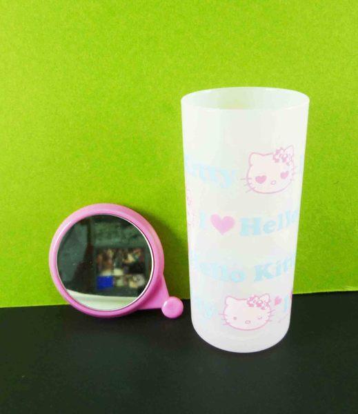 【震撼精品百貨】Hello Kitty 凱蒂貓~牙刷膏組-KT大頭+藍色英文字圖案