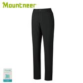 【Mountneer 山林 女 SOFT SHELL保暖極窄管長褲《黑》】32S18/休閒褲/防風褲