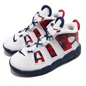 Nike 籃球鞋 Air More Uptempo TD 白 藍 紅 童鞋 小童鞋 大Air 【ACS】 CZ7887-100