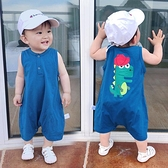 嬰兒童連身衣服寶寶夏裝夏季薄款男童莫代爾吊帶褲子短褲五分褲 幸福第一站
