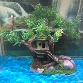 沉木魚缸造景
