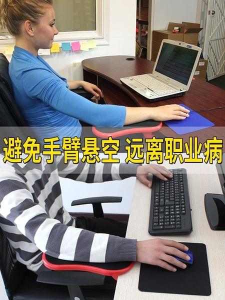 創意電腦手托架桌用鼠標墊護腕托手腕墊子可旋轉臂托架腕托支架鍵盤鼠標手臂托鼠標手延長 夢藝
