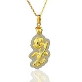 金鑲玉項鍊 和闐玉吊墜-優雅玫瑰花生日情人節禮物男女飾品73gf29【時尚巴黎】