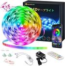 SUNGYIN【日本代購】LED燈條5M SMD5050 RGB遙控/APP操作IP65音樂/語音同步
