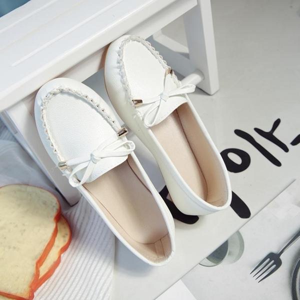 百搭豆豆鞋女韓版平底女鞋一腳蹬懶人休閒單鞋學生瓢鞋三角衣櫃