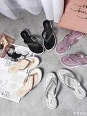 新款韓版百搭拖鞋女夏時尚外穿涼拖簡約沙灘夾腳平底防滑人字拖女  麥吉良品