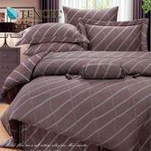 ✰雙人 薄床包兩用被四件組✰ 100%純天絲《布朗菲》