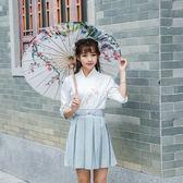 風套裝女2018漢服刺繡復古文藝日常古風學生漢元素上衣短裙夏