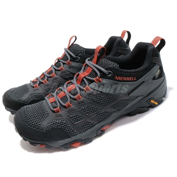 Merrell 戶外鞋 Moab FST 2 GTX 紫 紅 男鞋 Gore-Tex 防水 透氣 越野 休閒鞋 運動鞋【ACS】 ML77443