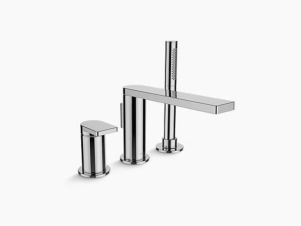 【麗室衛浴】美國 KOHLER Composed™ 缸邊式浴缸龍頭(含手持花灑)K-73078T-4-TT