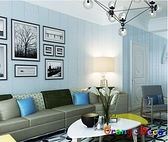 壁貼【橘果設計】簡約直條系列(淡藍)10米長DIY組合壁貼 牆貼 壁貼 室內設計 裝潢