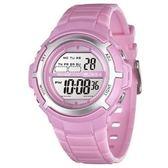 JAGA 捷卡 多功能電子錶 休閒錶 38mm 手錶 女錶 運動錶 學生錶 M1085-G 粉紅