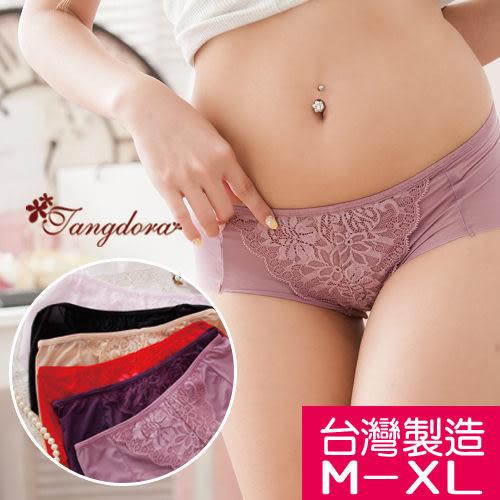 【 唐朵拉 】台灣製M~XL 精緻浪漫蕾絲 超薄貼身低腰女褲/三角褲/無痕/中大尺碼/親膚(805)