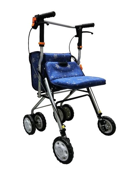 鋁製散步車(購物車/健步車)FZK717(藍色)