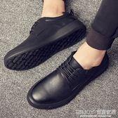 皮鞋 冬季大頭皮鞋男士韓版潮流百搭學生男鞋英倫休閒鞋青年黑色板鞋子 宜室家居