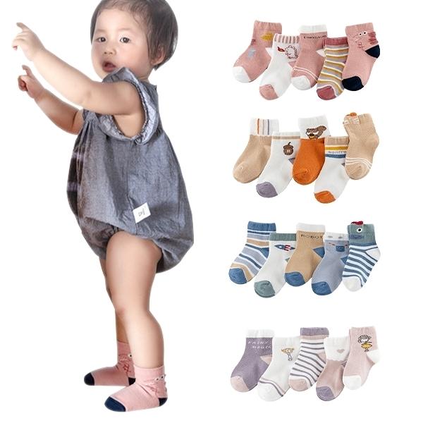 5雙入 童襪短襪地板襪兒童立體卡通襪-JoyBaby