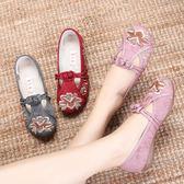 春夏老北京布鞋女民族風繡花鞋漢服古風鞋中國風女單鞋平底舞蹈鞋