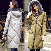 羽絨外套 中長款-時尚毛領百搭保暖女夾克3色73it221[時尚巴黎]