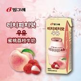 Binggrae蜜桃荔枝牛奶200mlX3
