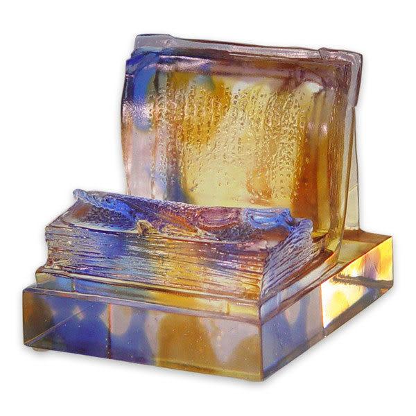 鹿港窯~居家開運琉璃名片座【經綸滿懷】附精美包裝◆附古法製作珍藏保證卡◆免運費送到家