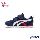 ASICS童鞋 男童運動鞋 機能鞋 MEXICO NARROW MINI 4 魔鬼氈慢跑鞋 亞瑟士 B9167#藍色◆OSOME奧森鞋業