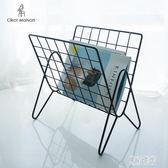 北歐鐵藝桌面雜志架 現代客廳經濟型臥室桌上簡易小書架 zh2415『東京潮流』