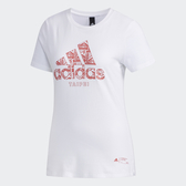 Adidas KC TEE BC TP [DY8748] 女 運動 休閒 圓領 短袖 上衣 舒適 棉T 台北 愛迪達 白