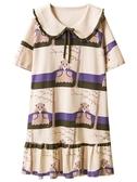 睡裙2020睡裙女夏季純棉薄款連身裙睡衣韓版寬鬆胖mm孕婦家居服 宜室家居