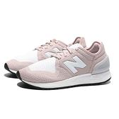 NEW BALANCE 休閒鞋 247 白 玫瑰粉 編織 網面 運動 女 (布魯克林) WS247SP3