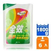 毛寶 全效強淨柔軟洗衣精-梔子花香 補充包 1800g (6包)/箱