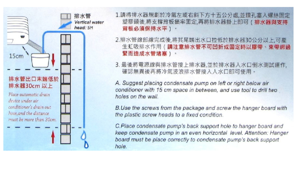 【福泉方精靈】分離式 冷氣排水器 電動排水器 適用3噸以下冷氣機