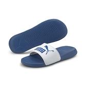 PUMA POPCAT 20 男款藍色休閒涼拖鞋-NO.37227914