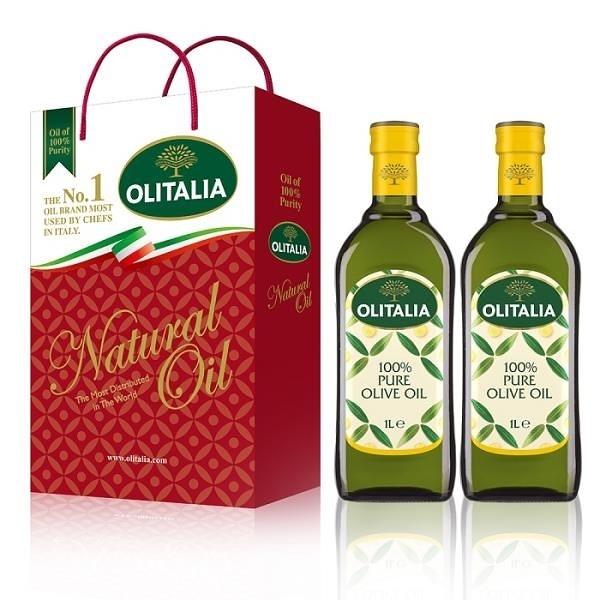 【南紡購物中心】Olitalia奧利塔純橄欖油禮盒組1000mlx2