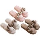 麋鹿造型亞麻居家保暖拖鞋(1雙入) 顏色...