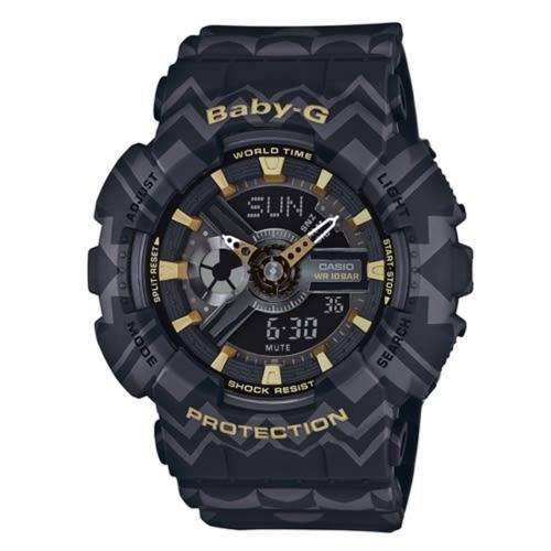CASIO BABY-G民俗風圖騰運動腕錶/BA-110TP-1ADR