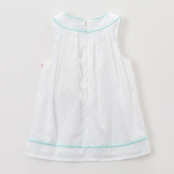 無袖洋裝 DaveBella 圓領花朵無袖白洋裝 DB3382