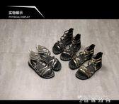 女童涼鞋新款公主鞋韓版女孩羅馬涼鞋夏季兒童休閒鞋子學生鞋 薔薇時尚