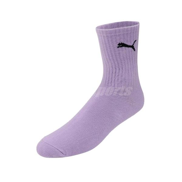 Puma 襪子 Classic Sock 男女款 紫 單雙入 台灣製 中筒襪 彪馬【ACS】 BB1345-03