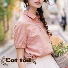 《貓尾巴》MA-0038 娃娃領小花刺繡...