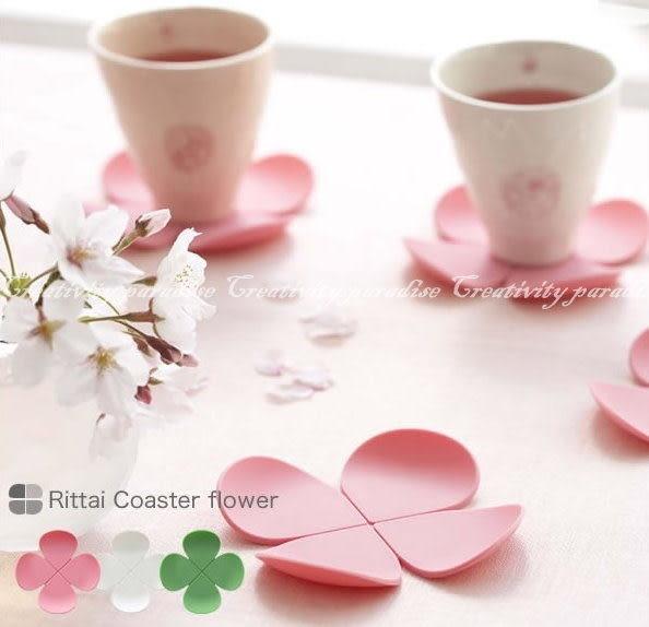 【花朵杯墊】創意立體花朵造型防燙矽膠隔熱墊