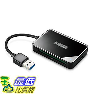 [106美國直購] 讀卡器 Anker 4-Port USB 3.0 Portable Card Reader for SDXC SDHC SD CF High-Speed