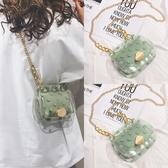 包包 春夏季夏天小清新小ck透明果凍包包女2020新款潮時尚迷你百搭斜挎