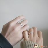 情侶戒指純銀簡約男女款禮物紀念開口滄海桑田對戒學生 KP1734
