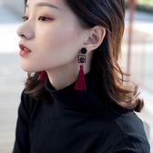 復古中國風耳墜過年紅色耳飾女年味流蘇耳環新款潮氣質長款 金曼麗莎