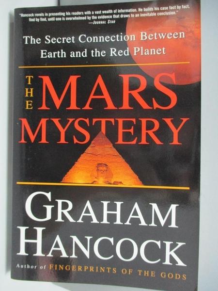 【書寶二手書T4/歷史_DBE】Mars Mystery: The Secret Connection Between Earth and the Red Planet_Hancock, Graham