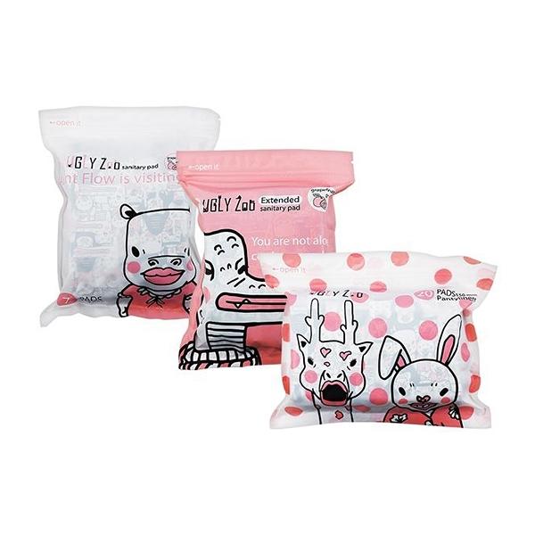 優日UGLY Zoo 西柚涼感衛生棉(1包入) 款式可選【小三美日】