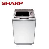 -贈全家商品卡500元- SHARP 夏普 17kg直立式超震波變頻洗衣機 ES-SDU17T **免費基本安裝+舊機回收**