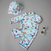 聖誕好物85折 兒童泳衣男童潮韓國可愛小寶寶嬰兒度假防曬速干連身泳裝泳褲溫泉