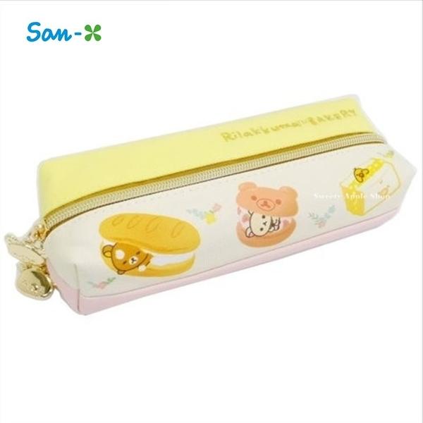 日本限定 拉拉熊家族 麵包店系列 兩面式雙開拉鍊 筆袋 / 收納袋