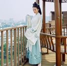 改良式漢服 女中國風廣袖流仙裙古裝服裝仙女曲裾學生日常襦裙大袖衫  df5730【大尺碼女王】